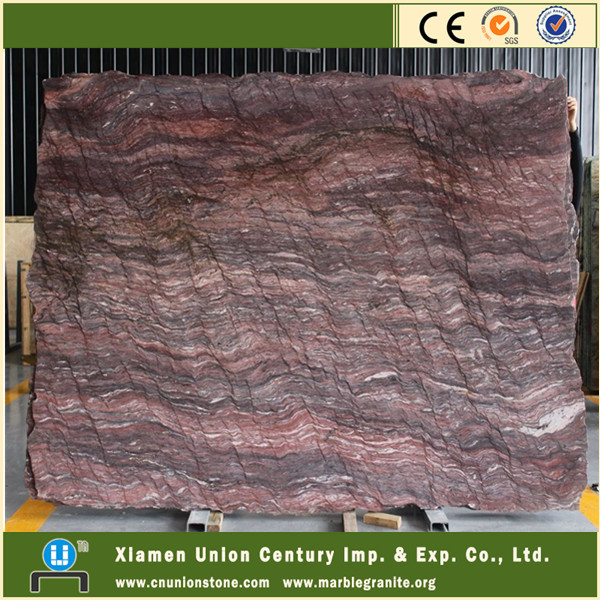 Elegant raw ocean wave lakha red granite