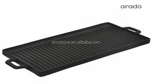 Cast Iron cookware reversible griddle/ BBQ grill double burner/ griddle plate