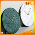 Green marble antique wall clock