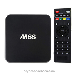 Soyeer 2016 Top Sale Android Smart TV Box M8S with Amlogic S812 Quad core Processor 2GB RAM 8GB ROM