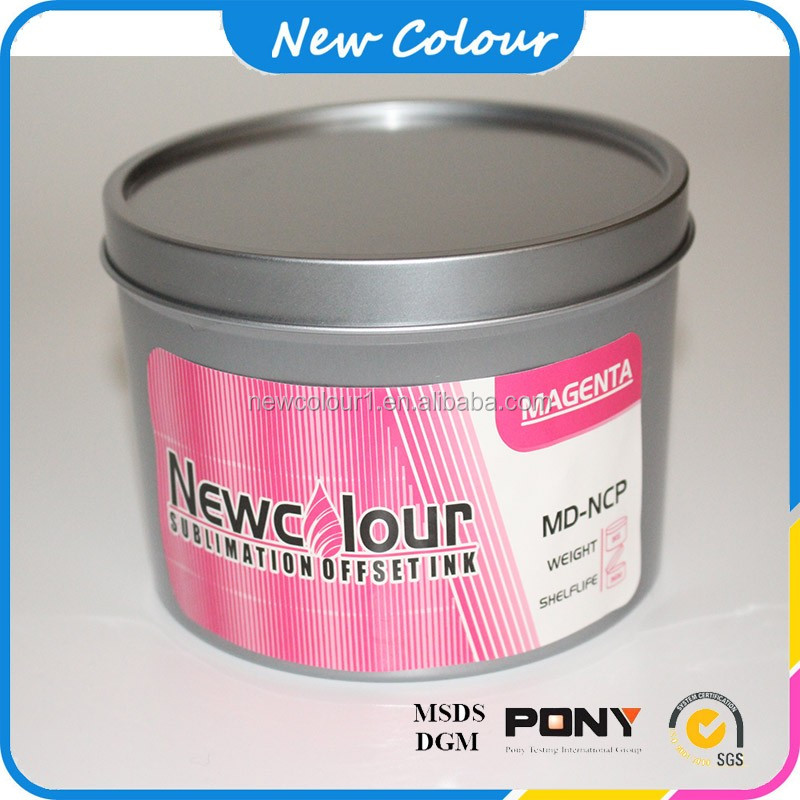 Dye offset printing ink for transfer machine