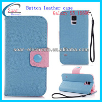 Korea Contrast color for samsung leather case s5, for galaxy s5 case leather