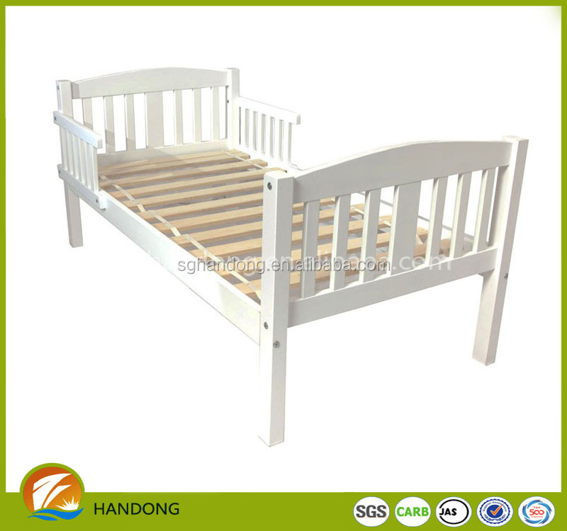 Solid white bedroom furniture modern design pine wood folding kids bed
