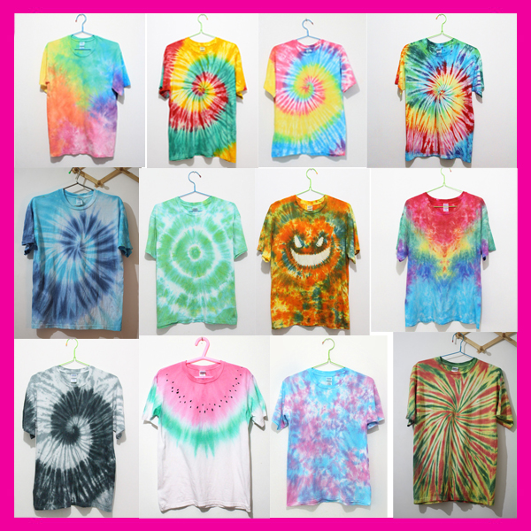 O-neck Short sleeve top tees custom 100% Cotton tie dye t shirts wholesale china