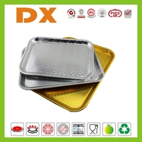 Rectangle aluminum food serving trays, dinnerware set, dinnerware plate