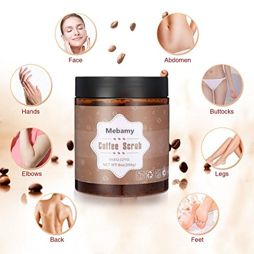 2017 Hot Selling Coffee Deep Sugar Cleaning Sea Salt Body Brightening Scrub