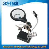 DH-86010 custom magnifier glass with soldering stand