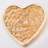 2019 hot new design filigree heart shape jewelry connector brass jewelry findings