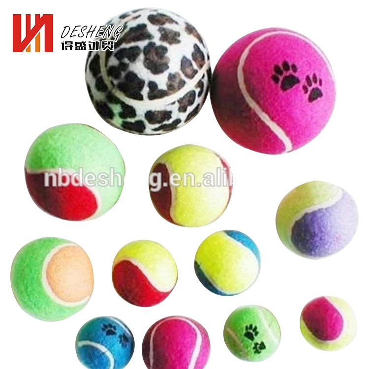 Variety style small cute rubber dog tennis toy ball