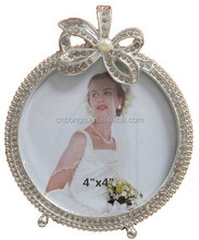 Elegant 10x10 cm picture photo frame with rhinestones bowknot