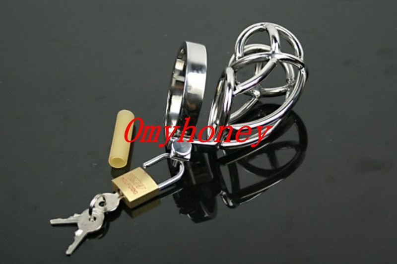Stainless steel new design cock cage penis ring cage, lockable dildo cage ring, sex toys sex products <strong>M010</strong>