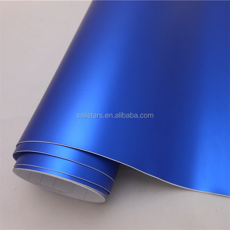 Best Quality Matte Chrome Blue Vinyl Wrap Bubble Free For Car Wrapping