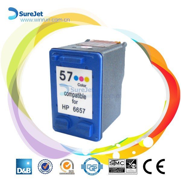 C6657A (57) Remanufactured Ink Cartridge for HP inkjet printer made in china