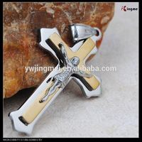 Catholic religious gold color small metal cross