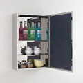 Stainless Steel 400mm width Wall Mounted Mirror Storage Cabinet