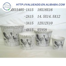 High quality ceramic zinc planter for decorate