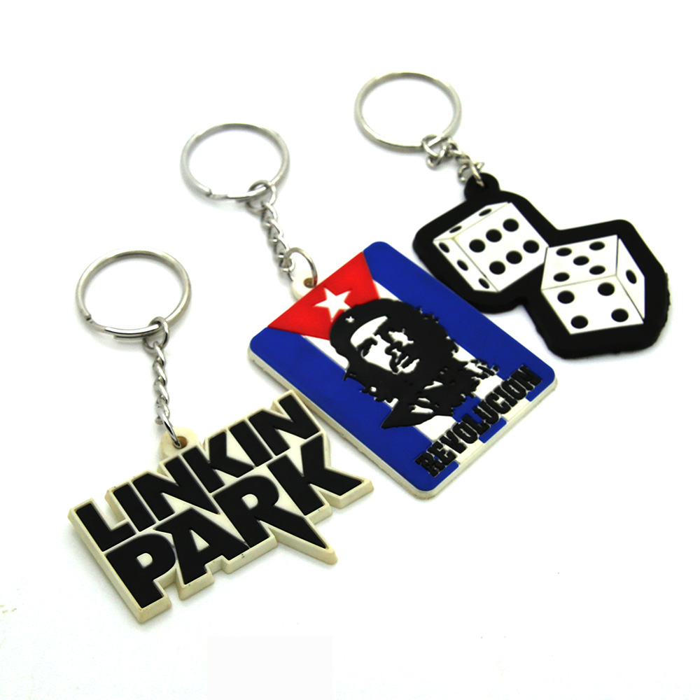 Oem custom souvenir soft pvc keychain,pvc rubber key chain,high quality silicone key rings