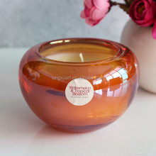ball glass candle holder rose gold candle wax warmer