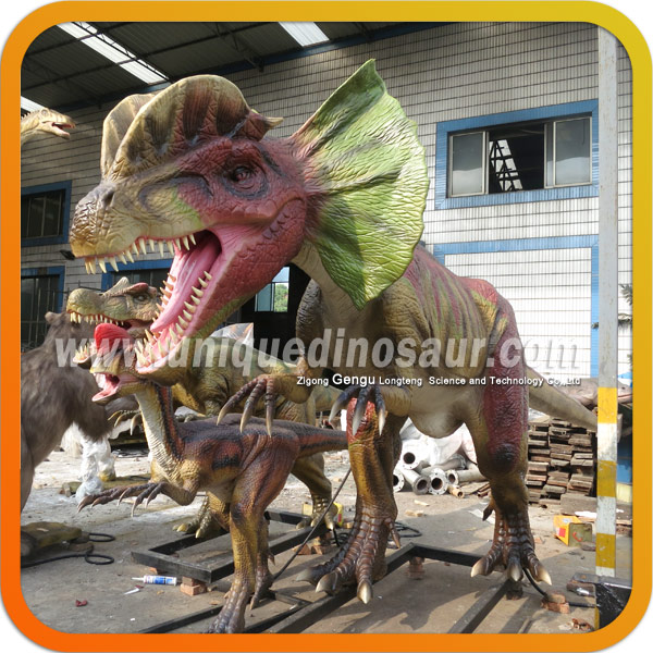 Dilophosaurus Dinosaur For Animal Zoo Equipment
