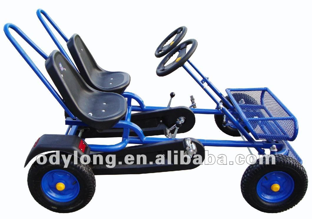 Dual person go-kart 2 person go kart