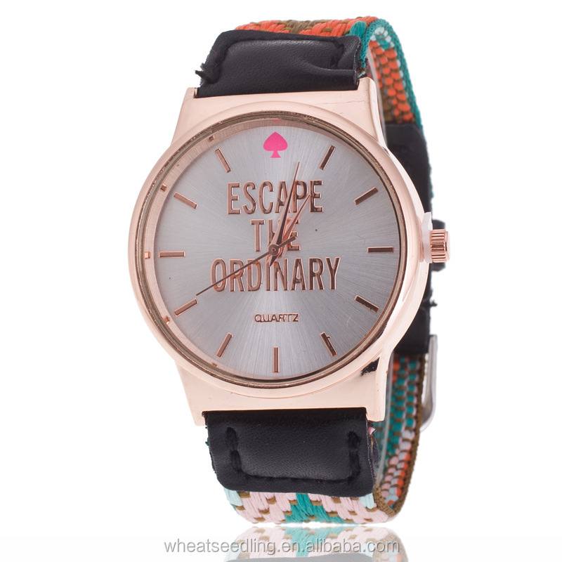 Factory direct sale dazzle colour fashion lady watch high grand English style design watch women