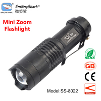 Smilingshark Gift Mini Flashlight, Camping Led Flashlight, 14500 lithium Rechargeable Zoom Led Flashlight Torch