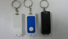 novelty personalized led torch keychain with 2 led light for Promotion Item