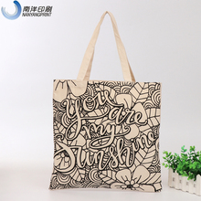 wholesale 100% organic recycle vinyl tote cotton canvas fabric bag