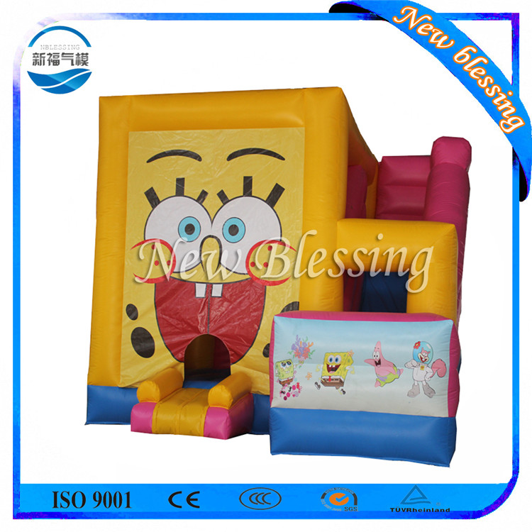 Inflatable spong bob bouncy castle/inflatable bouncer with prices