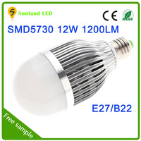 Cool white 12w e27 12 volt led bulb 6000k high light efficience 1200lm 10w led bulb