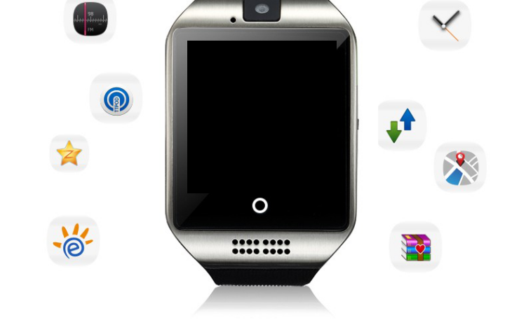 Q18 New item Curved screen SIM card slot camera NFC t58 smart watch