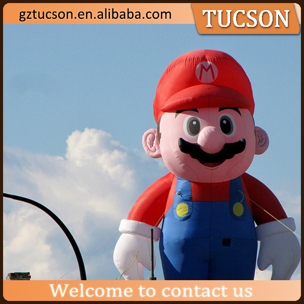 Guangzhou custom made giant inflatable super mario cartoon model for promotion
