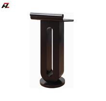 iron with logo modern metal standard lecture podium size