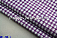Oxford 100 cotton check fabric for shirting