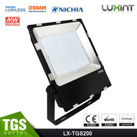 200W LED flood light for outdoor use, tennis court flood light, basketball court light