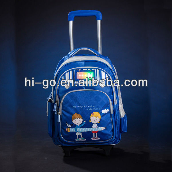 new top flashing trolley Safety LED travel bag