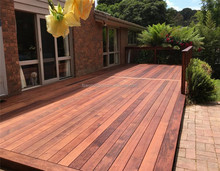 100% natural Indonesia merbau outdoor wood decking from Foshan supplier