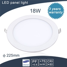 OEM High lumen aluminum alloy cut hole 280mm 18w round led panel light ce rohs tuv approved