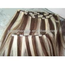 hot sale in clip in hair thailand hair products