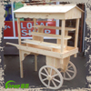 Newly Wedding Candy Cart Wooden Candy Cart Handle Cart Display Stand