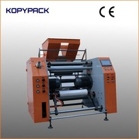 full automatic stretch film cutting and rewinding machine
