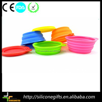 Dog Cat Fashion Silicone Collapsible Feeding Water Feeder Bowl pet supplies Travel Dish Folding dog bowl
