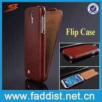 Fashion factory price flip leather case for samsung galaxy s4 case