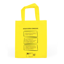 Heat sealed silkscreen printing pp non woven grocery bag promotional bags