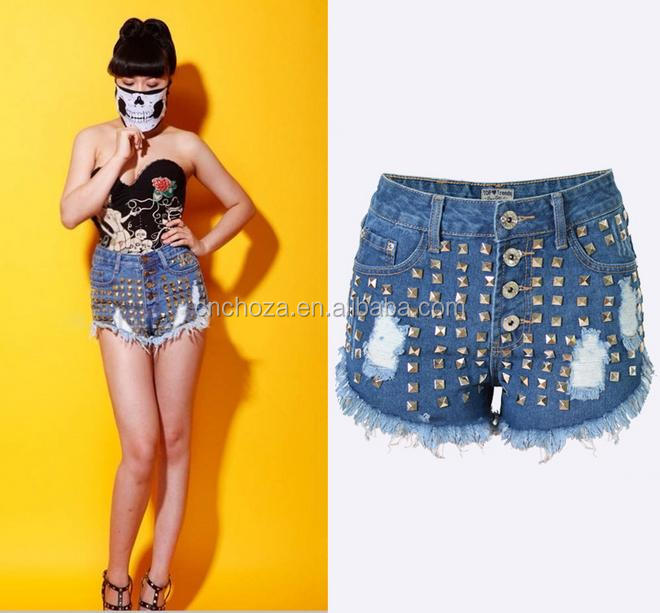 Z55705B Fashion design short Women tight jeans short skin tight shorts