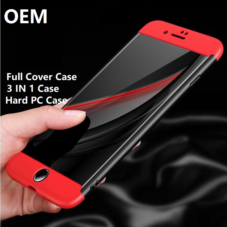 OEM High Quality Hot Sales 360 Full Body 3 in 1 Hard PC Cover Case For Iphone X 5 5S Se 6 S 6S 7 8 Plus For iPhone X Case