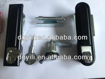 high quality push open key lock for electricity box/push open lock for panel