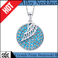 CDE crystals from Swarovski factory bulk wholesale 2017 fashion jewelry angle wing pendant necklace