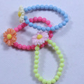 Acrylic Beads Stretch Children's Bracelet 6""