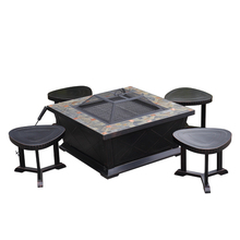Steel Square bbq grill tables Outdoor Fire Pit table